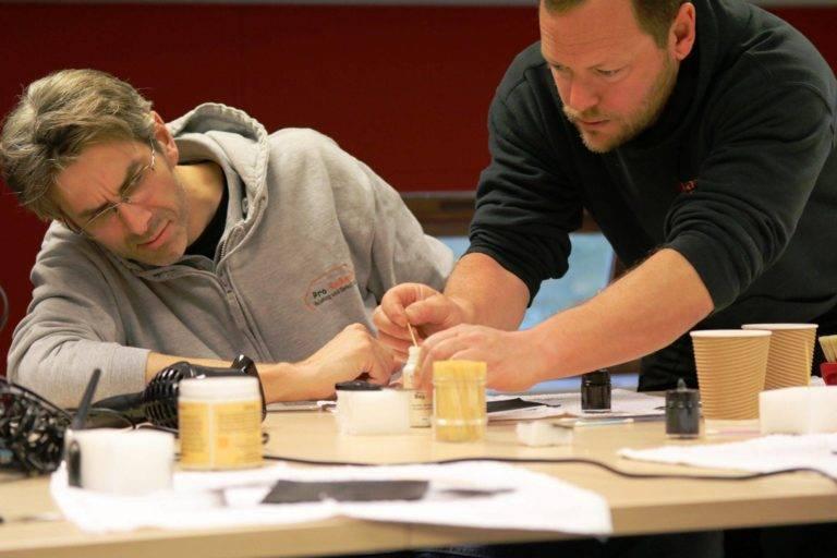Classroom Leather Repair Training Rich