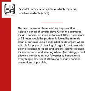 Should i work on a contaminated vehicle 2